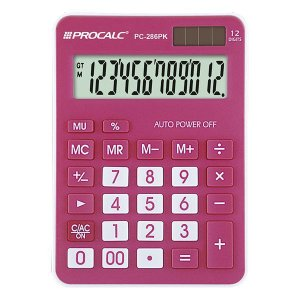 Calculadora de mesa CH Tech Procalc PC286PK 12 dígitos