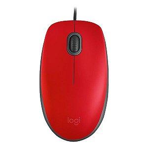 Mouse USB Logitech m110 Silent vermelho