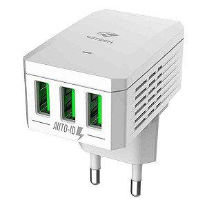 Carregador USB 3 saídas C3Tech UC-310WH