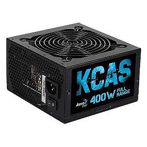 Fonte de alimentação ATX 400W reais 80Plus White Aerocool KCAS-400W