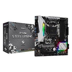 Placa-mãe ASRock B450M Steel Legend