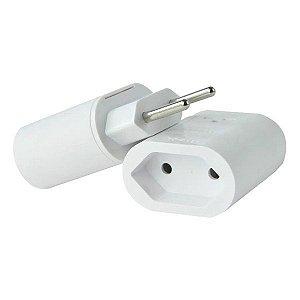 Protetor de surto 2 pinos 10A bivolt Clamper iClamper Pocket branco