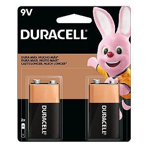 Bateria alcalina 9V Duracell (Blister com 2)