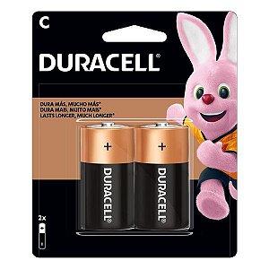 Pilha C alcalina 1.5V Duracell (Blister com 2)