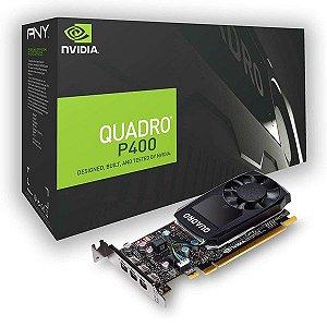 Placa de vídeo PCI-E PNY nVIDIA Quadro P400 2 Gb GDDR5 64 Bits (VCQP400V2-PB)
