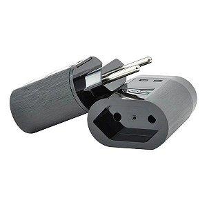 Protetor de surto 2 pinos 10A bivolt Clamper iClamper Pocket preto