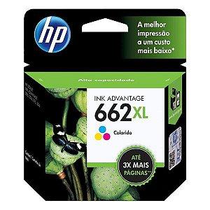 Cartucho de tinta HP 662XL colorido (CZ106AB)