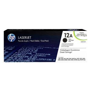 Toner HP dual pack Q2612AE preto (2x Q2612AB)