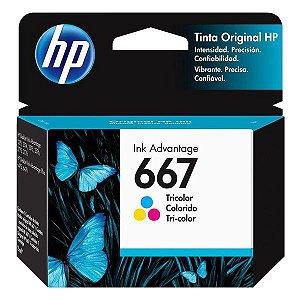 Cartucho de tinta HP 667 colorido (3YM78AL)