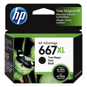 Cartucho de tinta HP 667XL preto (3YM81AL)