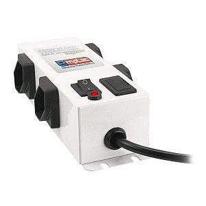 Filtro de linha metálico profissional 4 tomadas Emplac (F50094)