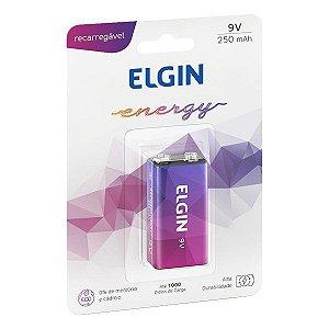 Bateria recarregável 9V 250 mAh Elgin