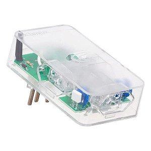 Protetor de surto 3 pinos bivolt 3 tomadas Clamper iClamper Energia 3 transparente
