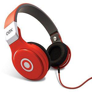 Headset oex Groove HP102 vermelho (48.0100)
