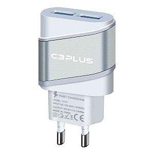 Carregador universal bivolt 2 saídas USB 2A C3Plus UC-20SWHX