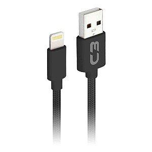 Cabo Lightning 2.0 AM 8 pinos x USB 1 metro C3Plus CB-L11BKX