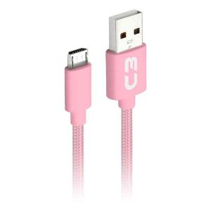 Cabo micro USB 2.0 AM x USB 1 metro C3Plus CB-M11PKX