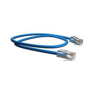 Cabo de rede Ethernet Cat 5E 0,5 metro Furukawa SOHO Plus azul (35103002)