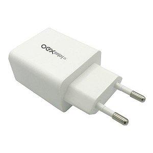 Carregador USB 3.0 1 saída oex CG202 (48.7369)