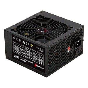 Fonte de alimentação ATX 500W reais Power X PX500 com cabo