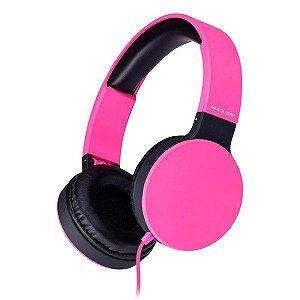 Fones de ouvido Multilaser New Fun PH271 rosa