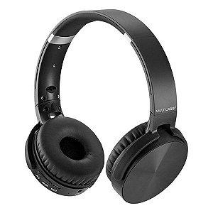 Headset Bluetooth SD/AUX/FM Multilaser Premium PH264 preto
