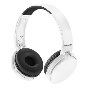 Headset Bluetooth SD/AUX/FM Multilaser Premium PH265 branco