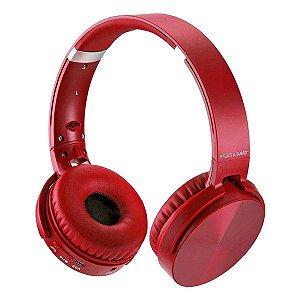 Headset Bluetooth SD/AUX/FM Multilaser Premium PH266 vermelho