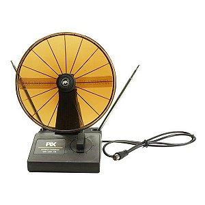 Antena interna UHF/VHF/FM Mini parabólica PIX 008-8040