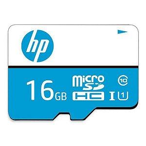 Cartão de memória MicroSDHC Class10 com adaptador 16 Gb HP mi210 (HFUD016-1U1BA)