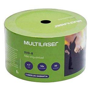 DVD-R Multilaser 4,7 Gb 120 min 16x - Embalagem com 50 unidades (DV061)