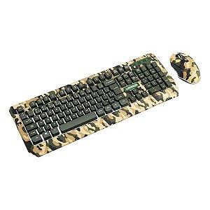 Combo gamer USB Multilaser Warrior Camuflado TC249