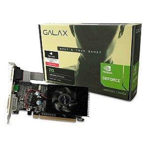 Placa de vídeo PCI-E Galax nVIDIA GeForce GT 210 1 Gb DDR3 64 Bits (21GGF4HI00NP)