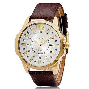 88b13102398 Relógio Masculino Curren Analógico 8103 Dourado e Branco - MegaHora
