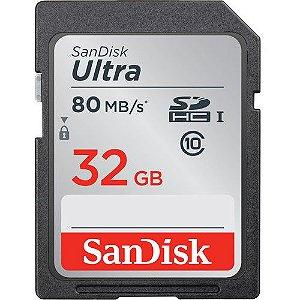 Cartão de Memória 32GB Ultra UHS-I Sandisk SDHC (Classe 10)