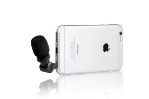 SmartMic Professional TRRS Microfone Condensador para iPhone, iPad, iPod Touch e Mac