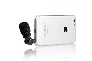 SmartMic Professional TRRS Microfone Condensador para iPhone, iPad, iPod Touch e Mac