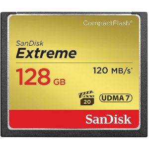 Cartão de Memória CompactFlash Extreme de 128 GB da SanDisk