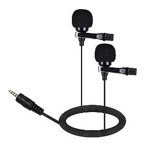 Ulanzi Microfone de Lapela Dupla