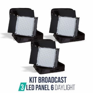 Kit Broadcast 03 Panel 6 Daylight + 03 Tripe ST807