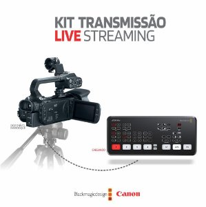 Kit Transmissão Live Streaming Filmadora XA11 + ATEM Mini