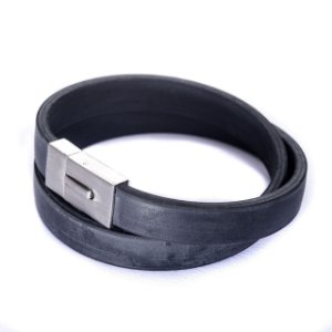 Pulseira Black Rubber Larga 2V