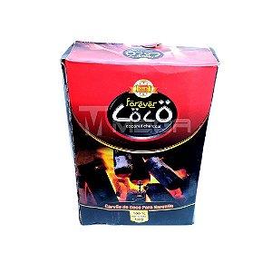 Carvão Forever Coco 1kg caixa com 10