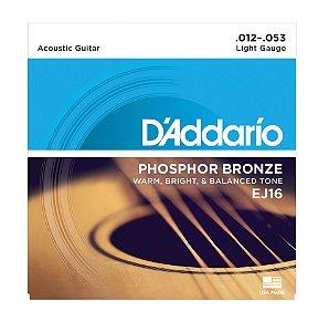 Encordoamento D'addario Violão 6C Phosphor Bronze EJ16