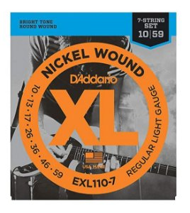 Encordoamento D'addario Guitarra 7C Níquel Wound 010Exl110-7