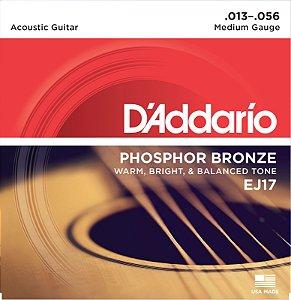 Encordoamento D'addario Violão 6C Phosphor Bronze EJ17