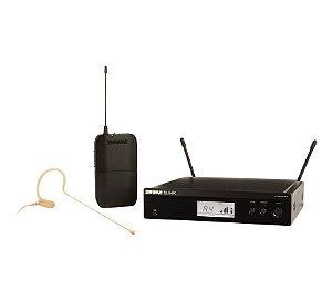 Microfone Shure s/ Fio Headset BLX14RBR/MX53 Rack-M15