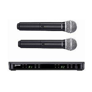 Microfone Shure S/ Fio Duplo BLX288BR/PG58-M15