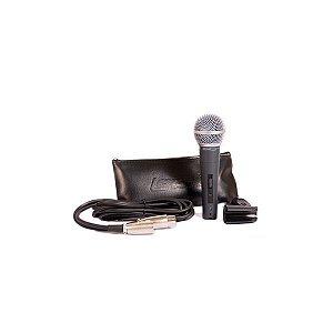 Microfone Lexsen Lm58 Filtro Anti Puff C/fio e Estojo