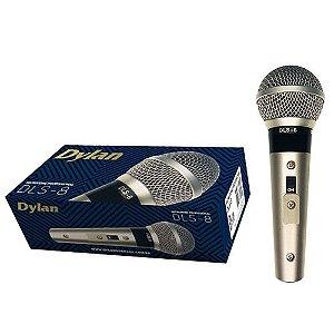 Microfone Dylan Champanhe C/Bag Cabo Botão Liga/Des DLS-8